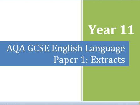 AQA Paper 1 Extracts Booklet with mock Q.1-4