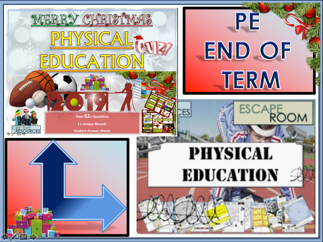 PE End of Term Christmas Pack - Physical Education