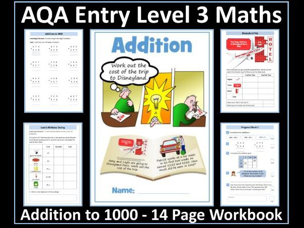 Addition to 1000: AQA Entry Level 3 Maths