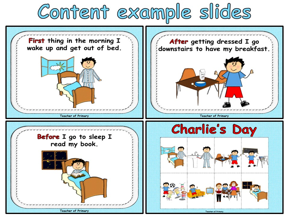sequencing events charlie 39 s day by online teaching resources teaching resources. Black Bedroom Furniture Sets. Home Design Ideas