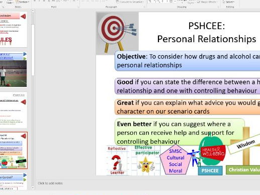 PSHE Drugs Education for KS4: Personal Relationships and Domestic Abuse - Whole Lesson