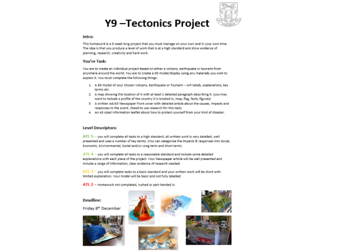 Tectonics PBL project / Research Task