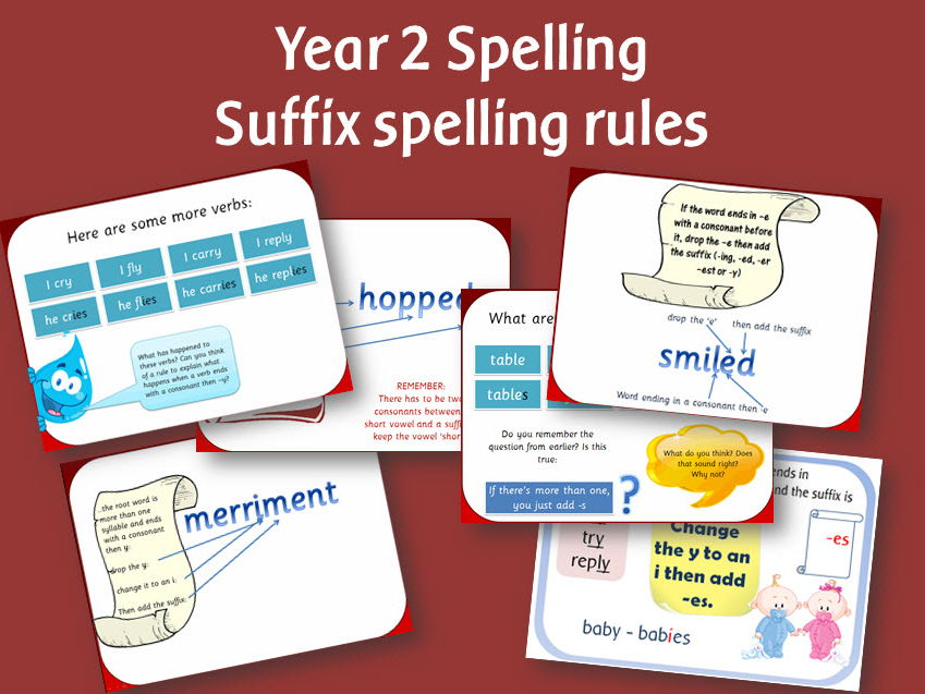 SPaG Year 2 Spelling Bundle 1: Rules for adding suffixes bumper pack