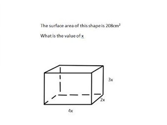 Solving problems involving the surface area of prisms and 3D shapes