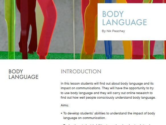 Body Language - Lessons in Digital Literacy