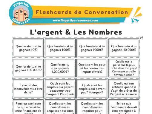 L'argent & Les Nombres - French Conversation Flashcards
