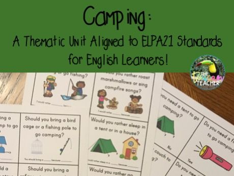 Camping unit for ESL English learners