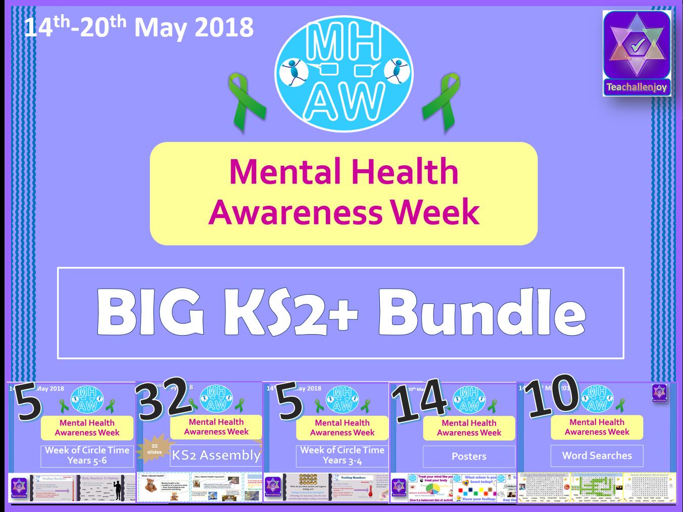 Mental Health Awareness Week 2018 BIG KS2 Bundle