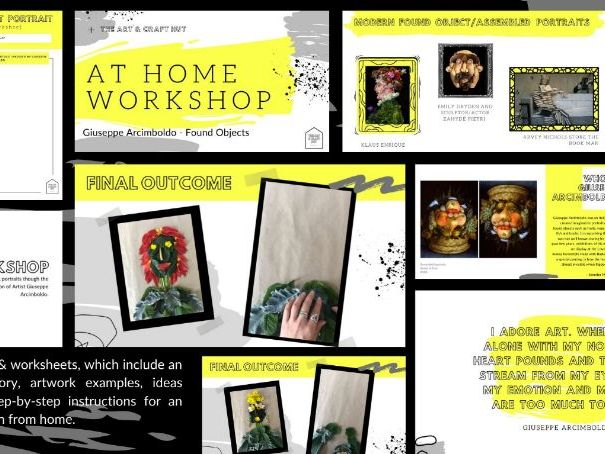 Giuseppe Arcimboldo| Practical Found ObjectsTask | Assemblage Art | Appropriate For At Home Learning