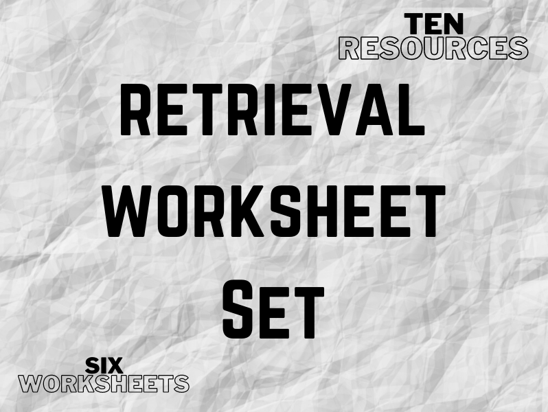 Retrieval Practice Worksheets