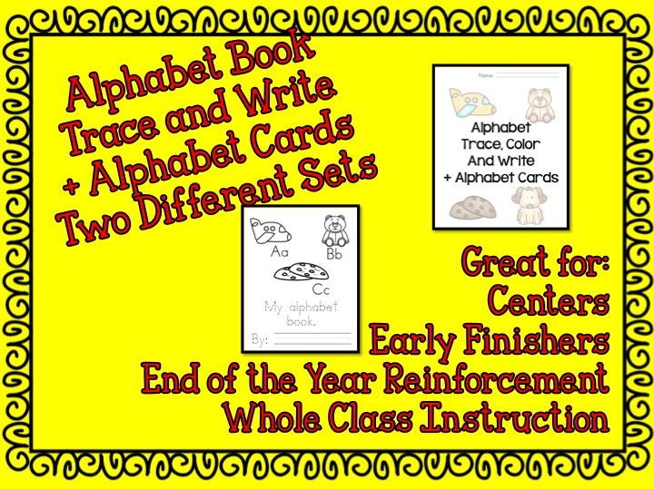 Alphabet Practice Book: Trace, Write and Read PLUS Two different sets of alphabet cards