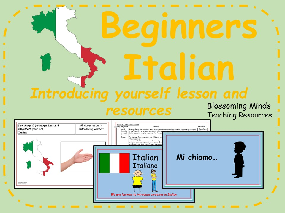 Italian lesson and resources - Introducing yourself/Saying your name