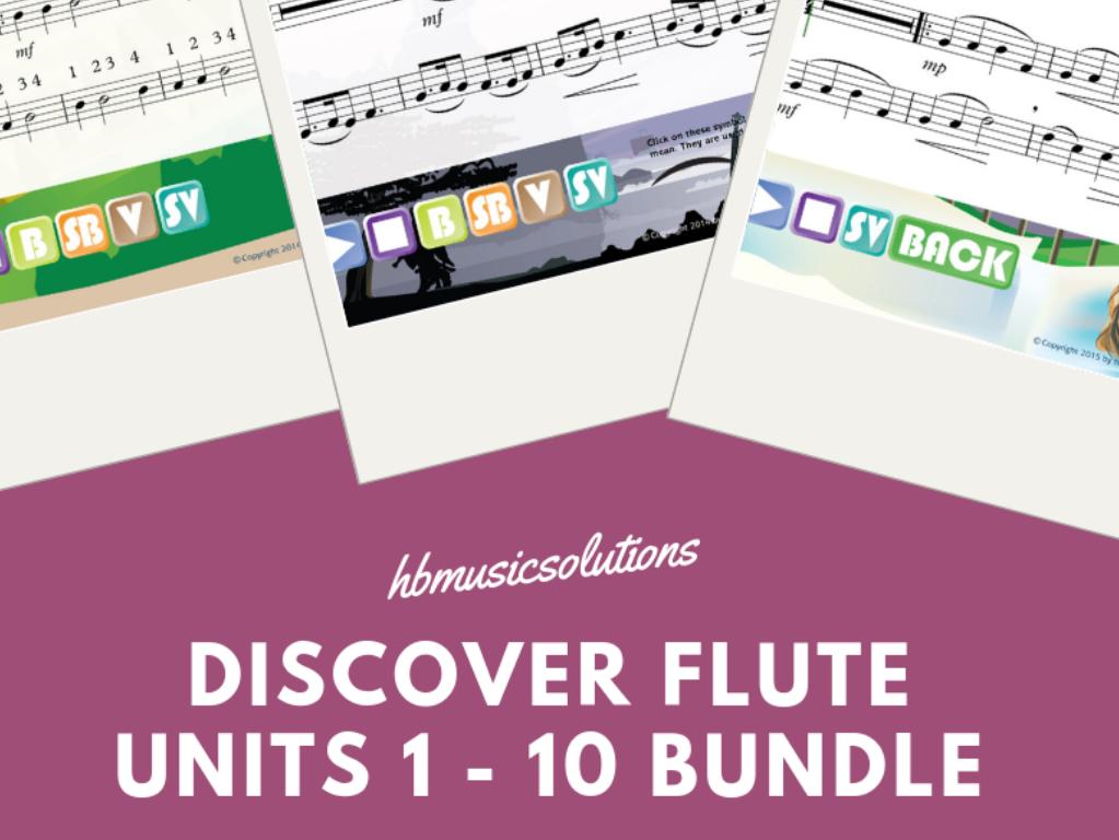 Discover Flute Music Bundle Unit 1-10