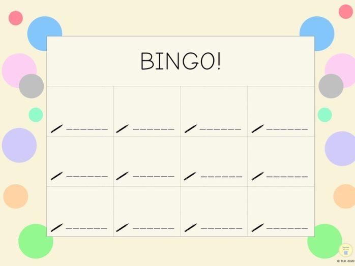 Pastel Bingo