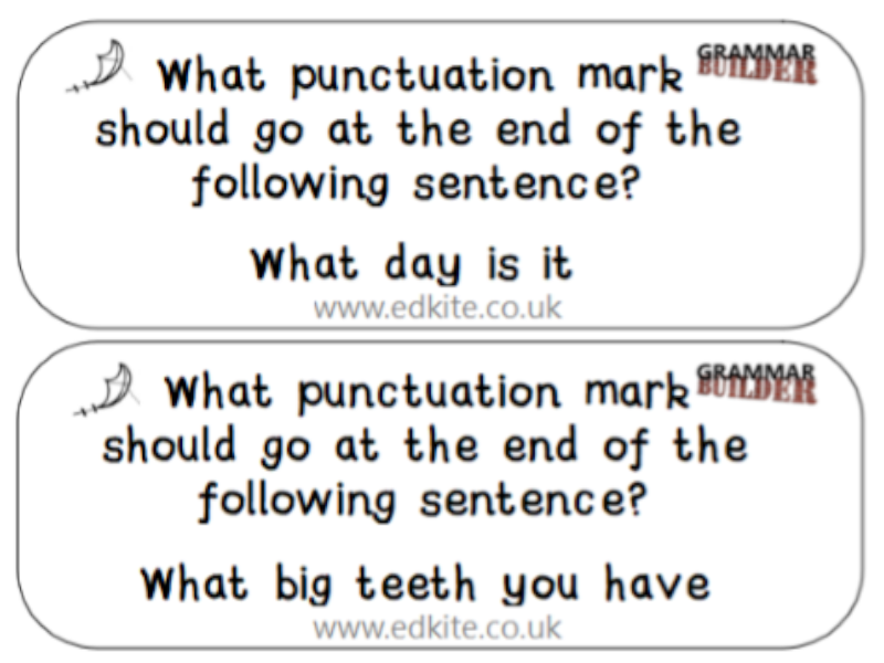 Grammar Key Stage 2 Quiz Quiz Trade Cards