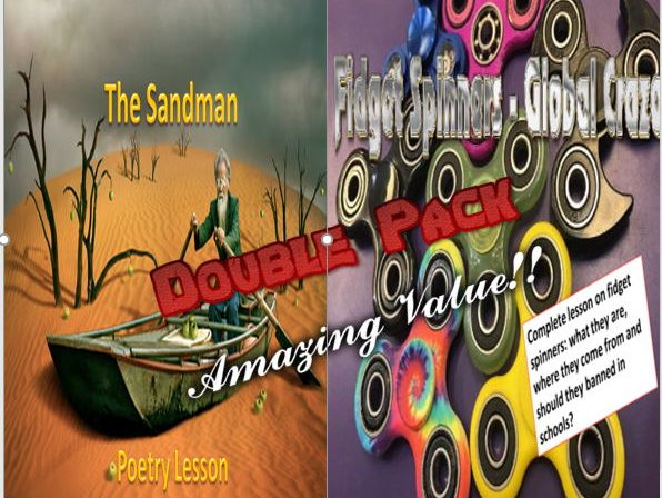 The Sandman  and Fidget Spinners Double Pack with Starters