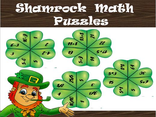 Patrick's Shamrock Math Puzzles