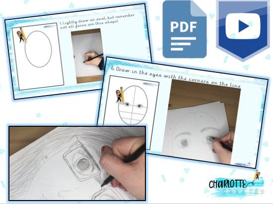 KS2 Art - Self Portraits (Video and PDF) Home Learning Activity