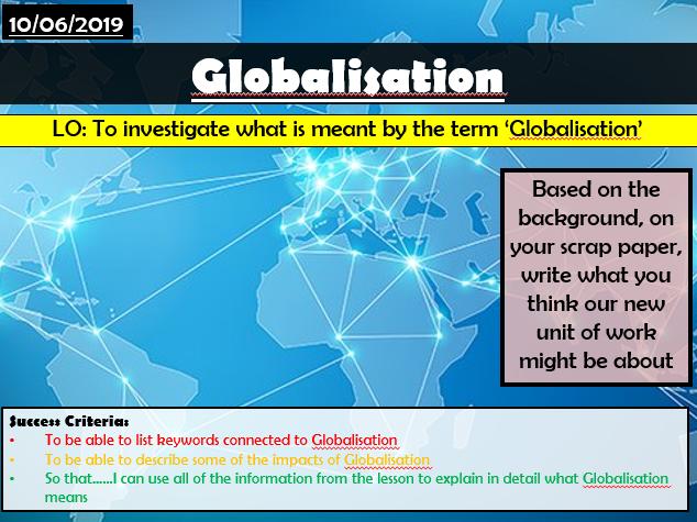 Globalisation Scheme of Work