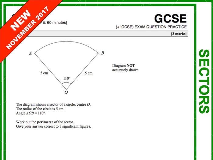GCSE 9-1 Exam Question Practice (Sectors)