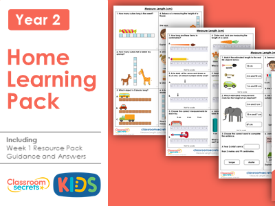 Year 2 Summer Week 1 Home Learning Maths Pack