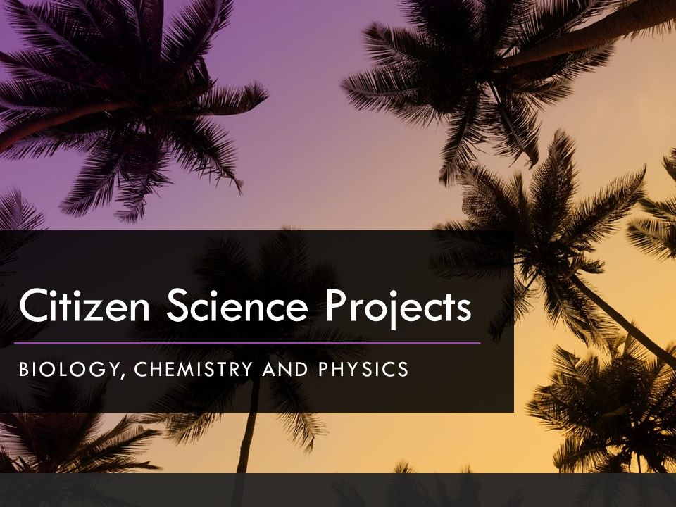 Citizen science projects