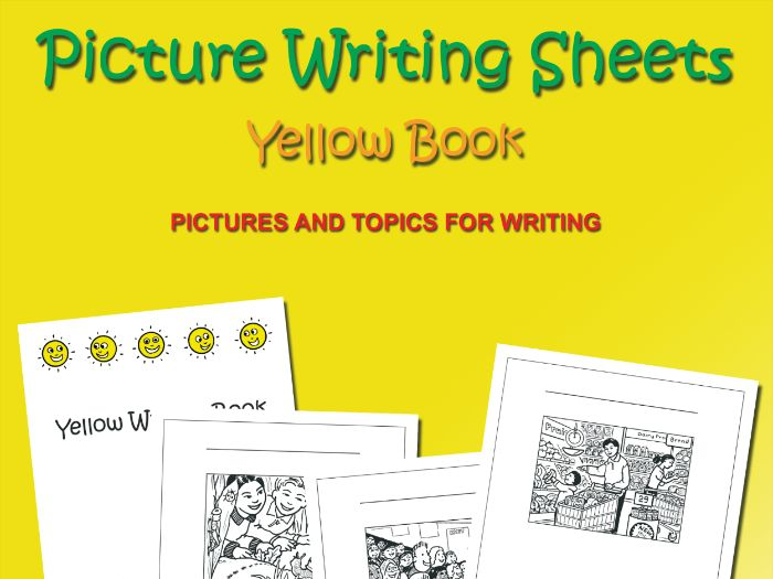 Picture Writing Sheets: Yellow Book