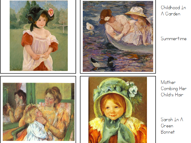 Mary Cassatt Masterpiece Matching Cards