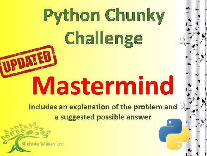 Python Mastermind Chunky Challenge