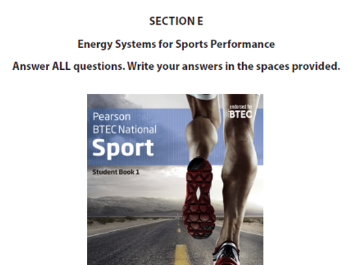 BTEC Sport Energy System Lesson 3