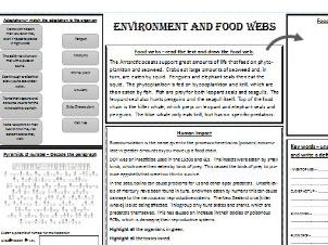 Stuck for Cover - Environment and Food Webs