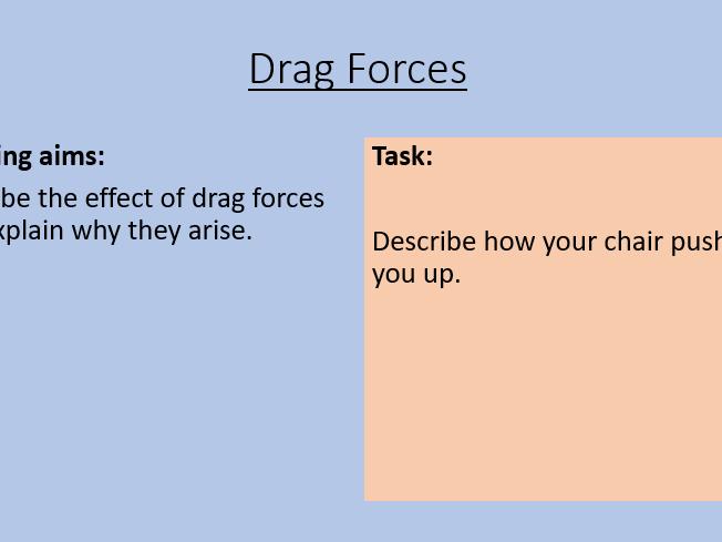 KS3 Drag Forces