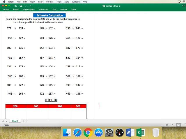 Estimate Calculation