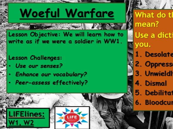descriptive writing war Do you know how to write a descriptive essay writing a descriptive essay usually requires you to describe something do not mention the war.