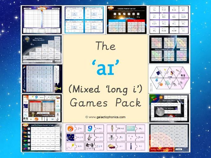 The Mixed 'aɪ' (long i) Phonics Games Pack