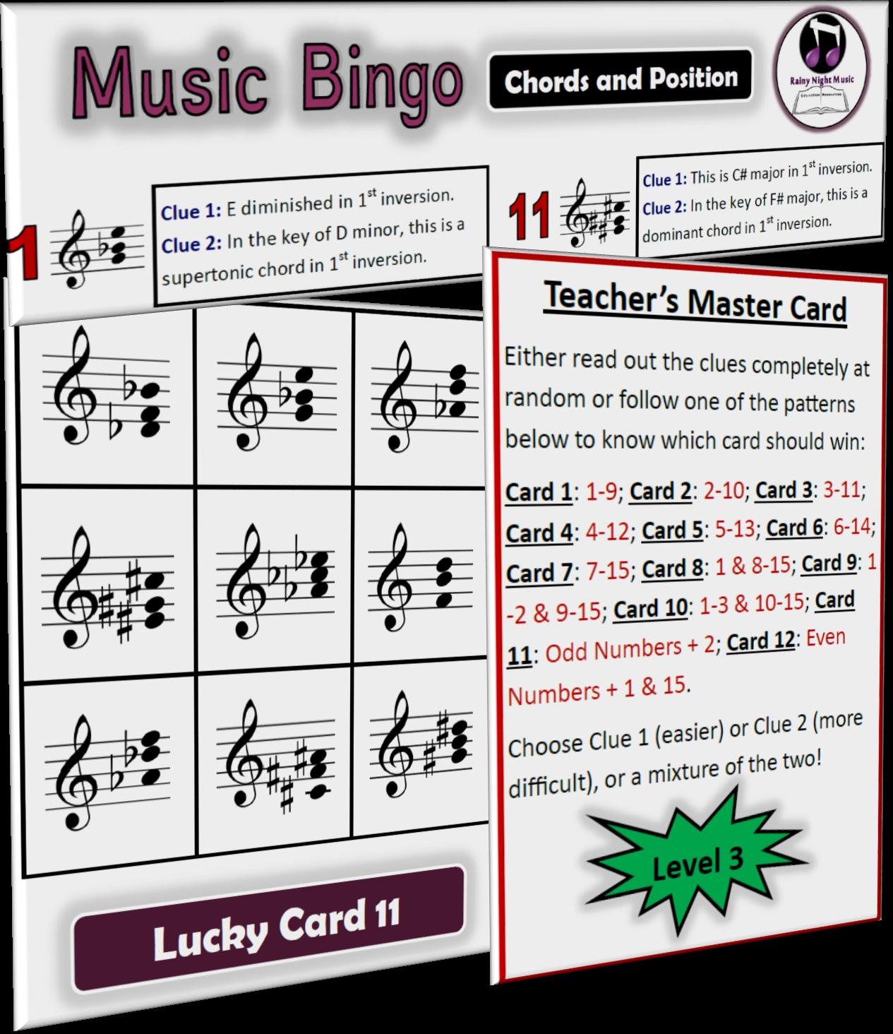 MUSIC BINGO Chords