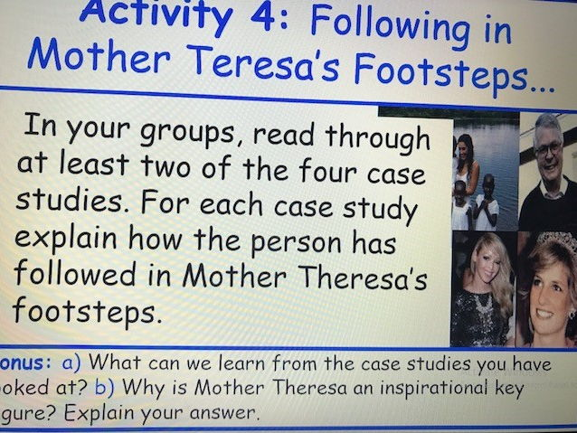 KS3 RE Key Religious Figures - Lesson 2 Mother Theresa
