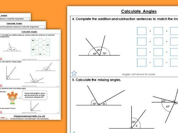 Year 6 Calculate Angles Summer Block 1 Maths Homework Extension