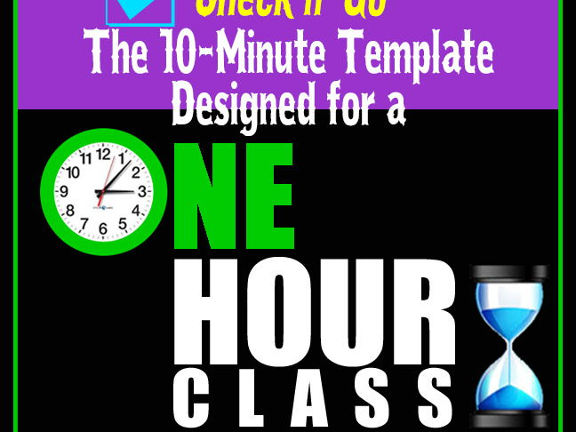 Check n' Go  > 10-Minute Class Plan Template for a 1-Hour Class >Editable Word Doc