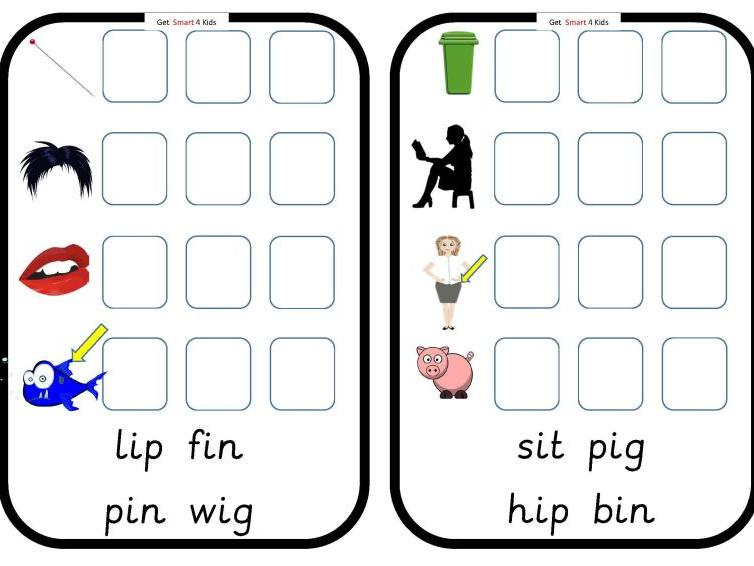 Read and Write cvc Words (Medial Vowel i)