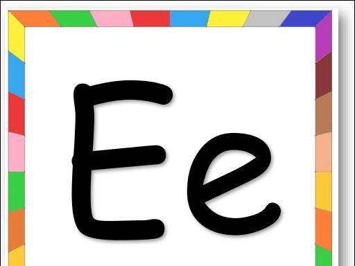 Rainbow Border Alphabet Flashcards A to Z