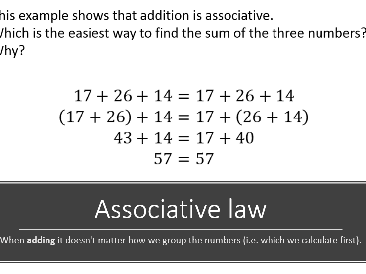 The laws of addition and subtraction.