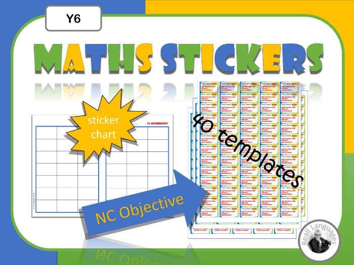 Y6 Maths Sticker Templates: Learning Objective Achieved