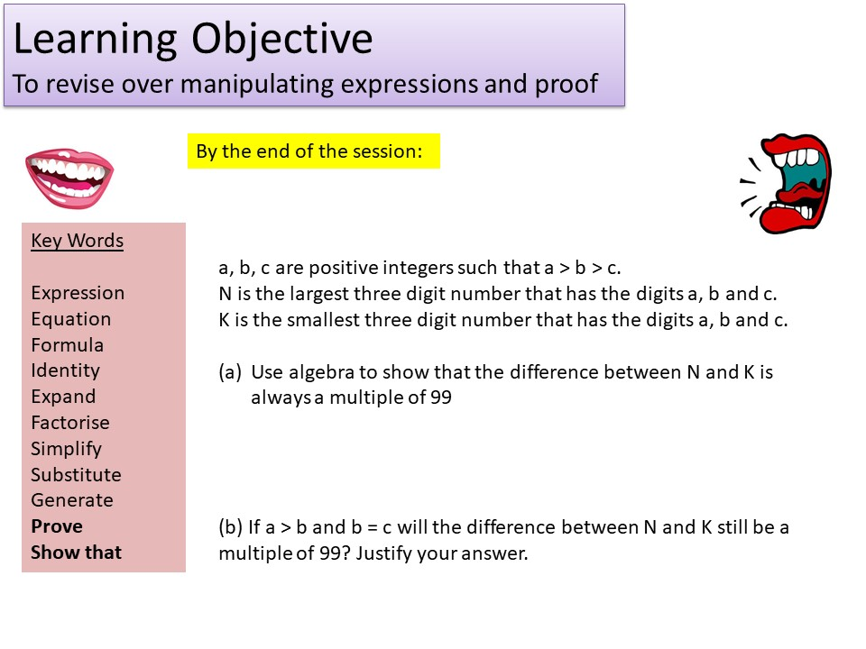 GCSE 1-9 Higher Generating Expressions & Algebraic Proof Revision