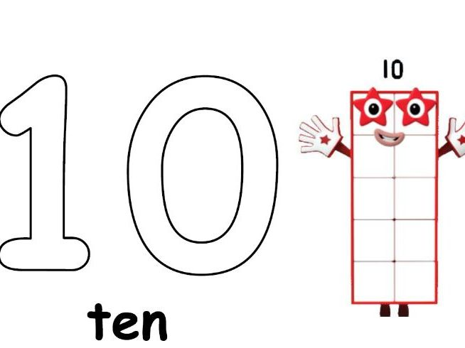 Numberblocks counting sheet 10 - 20