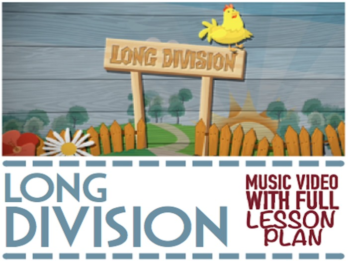 Long Division   Anchor Chart, Worksheets, Word Problems & HD Music Video  