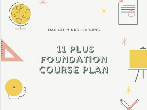 11 Plus Year 4 Foundation Course Plan