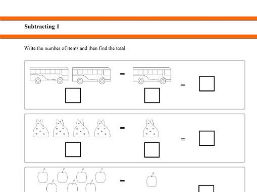 Subtracting 1 for Year 1 students