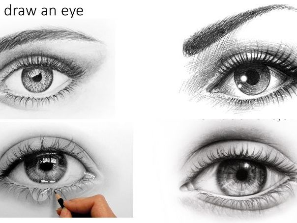 How to draw an eye (art activity suitable for home learning)