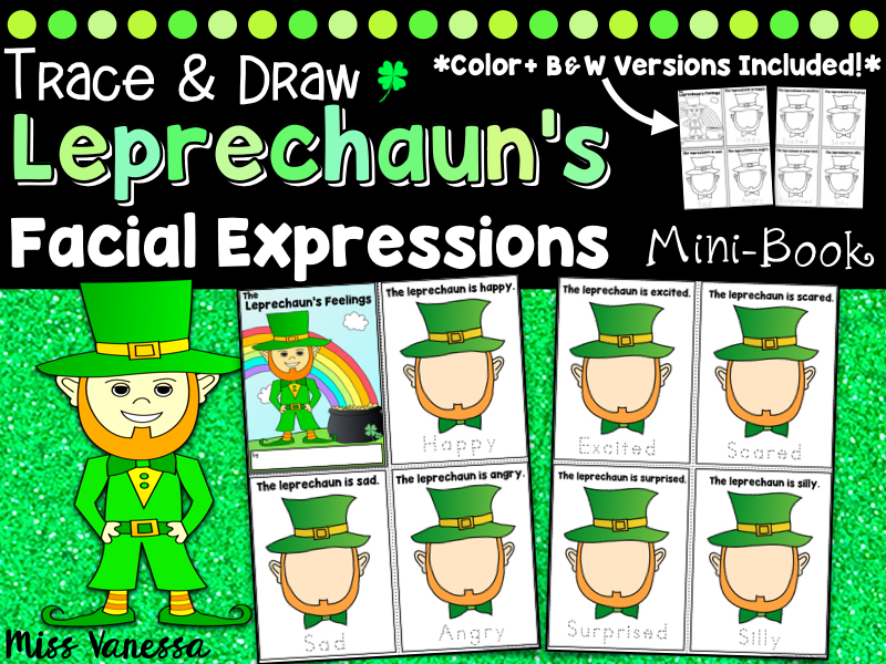 Drawing Facial Expressions, Saint Patrick's Day Activity